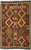 "Ecarpetgallery Hand-woven Kashkoli Kilim Geometric 3'8"" x 5'9"" Red 100% Wool area rug"