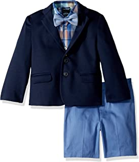 fc239928fe Amazon.com  Nautica Boys  4-Piece Suit Set with Dress Shirt
