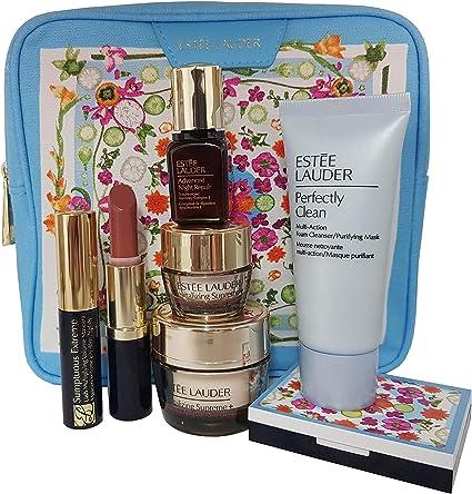 Estée Lauder Set - Foam Cleanser/Purifying Mask, Eye Balm, Power Creme,Night Repair Synchronized Recovery Complex II, Lipstick, Mascara, Sculpting Blush: Amazon.es: Belleza