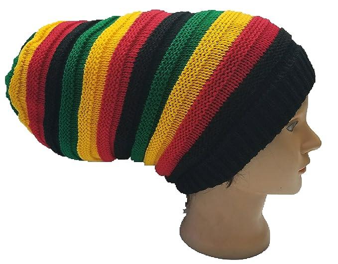 109852980813a Amazon.com  FIREBUNs Rasta Stripe Hippie Bob Marley Dreads Jamaican ...