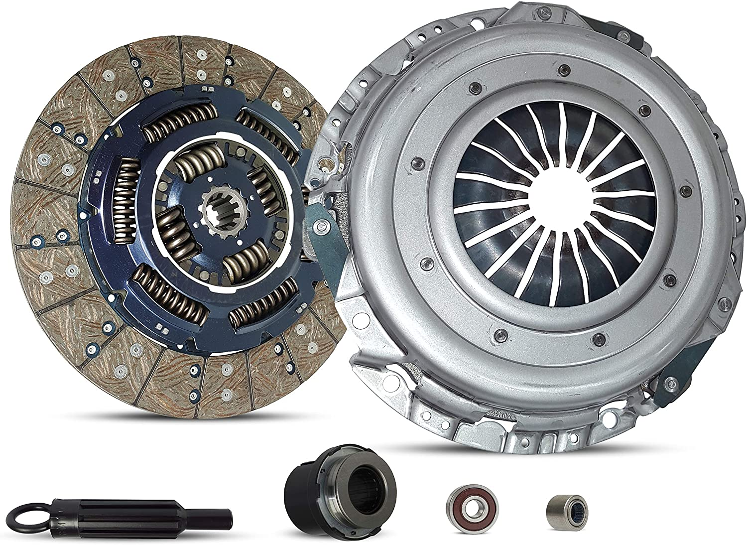 Clutch Disc Stage 1 Clutch Kit Set works with Gmc Sierra Yukon Chevy Tahoe Base LS LT SL SLT SLE Extended Cab Pickup 1999-2000 5.3L 4.8L V8 GAS OHV Naturally Aspirated