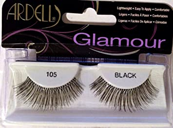 d27f367151a Amazon.com : Ardell Glamour Fashion Lashes, Black [105] 1 ea (Pack of 3) :  Beauty
