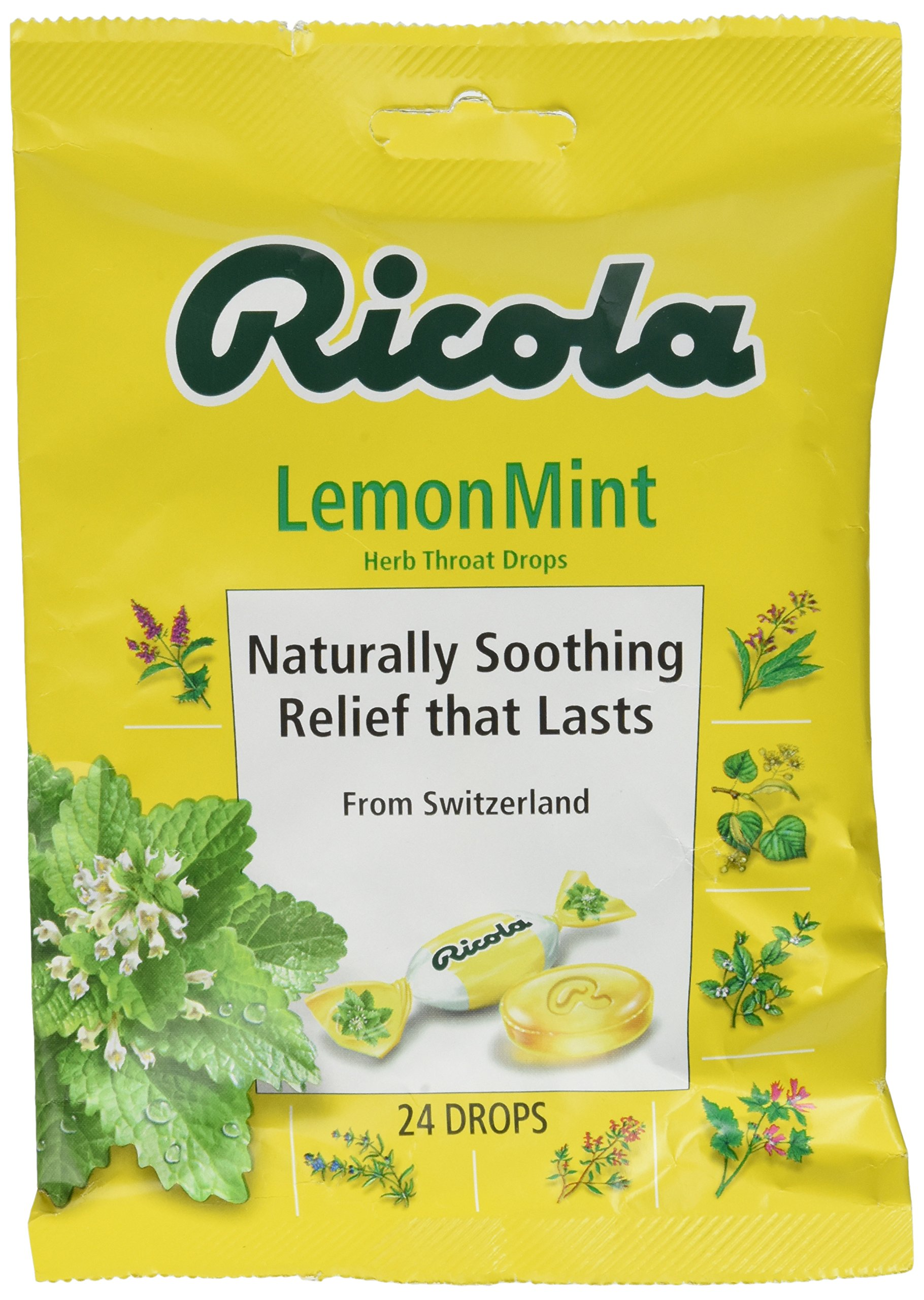Ricola USA, Inc. Throat Drop, Lemon-Mint, 24-Count (Pack of 6)
