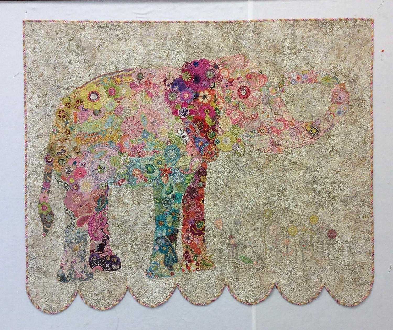 Lulu Elephant Collage Pattern By Laura Heine Fiberworks FWL