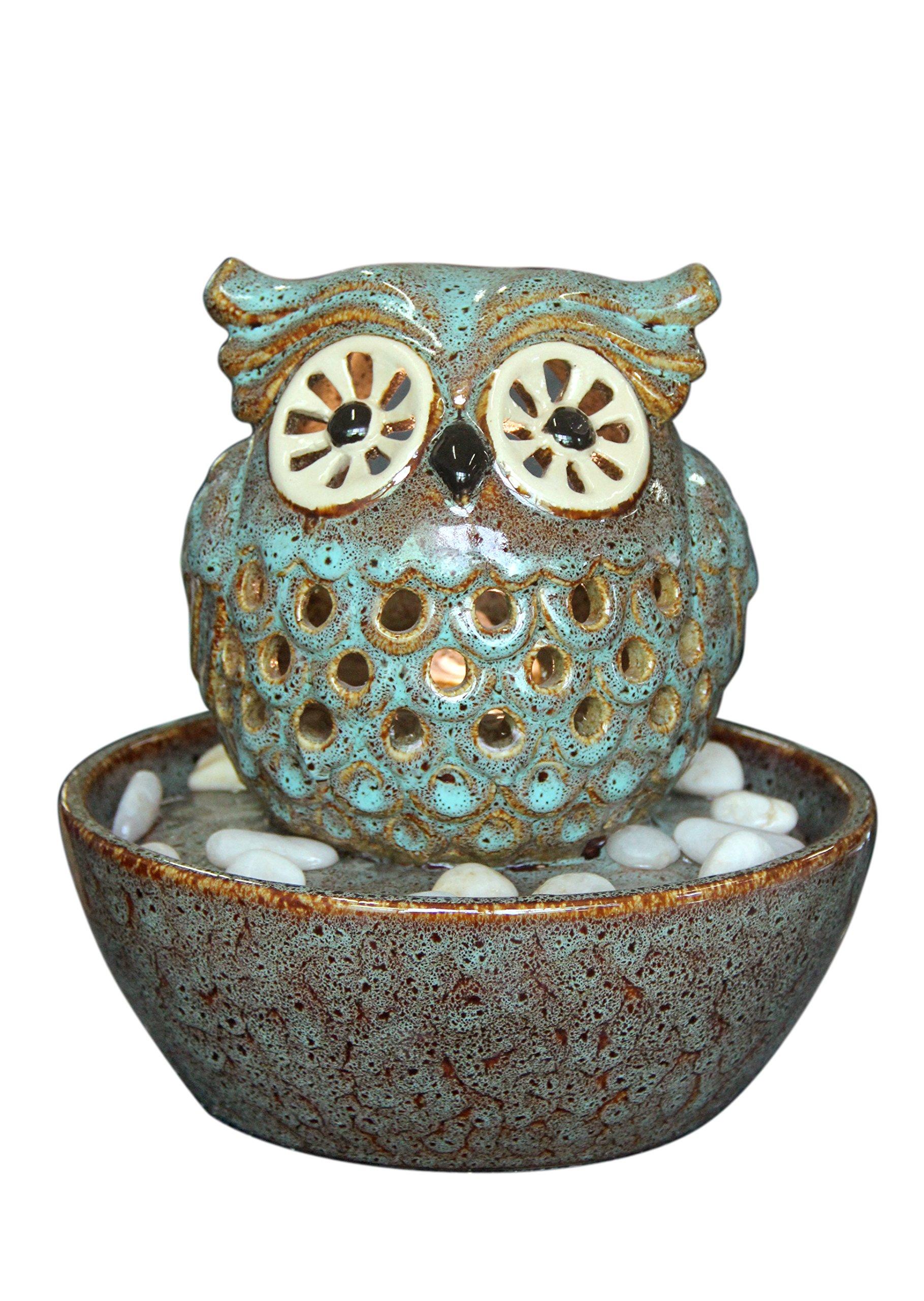 Owl In Bowl Fountain