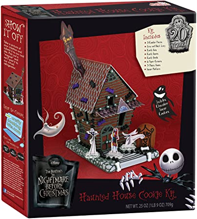 the nightmare before christmas haunted house cookie kit - Nightmare Before Christmas Gingerbread House