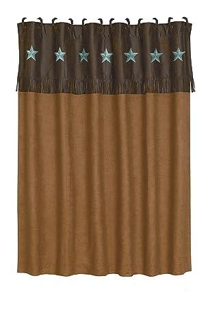 HiEnd Accents Laredo Western Shower Curtain  72 x 72  TurquoiseAmazon com  HiEnd Accents Laredo Western Shower Curtain  72 x 72  . Brown And Turquoise Shower Curtain. Home Design Ideas