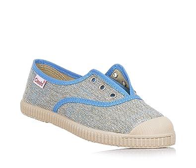 Cienta Blauer Schuh Aus Stoff, Made in Spain, Dekorative Weiße Ösen, Weiße Schnürsenkel, Jungen-31
