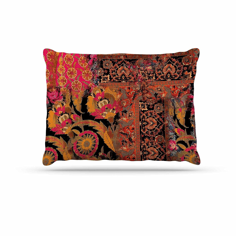 KESS InHouse Victoria Krupp Global Patchwork Coral Digital Dog Bed, 30  x 40