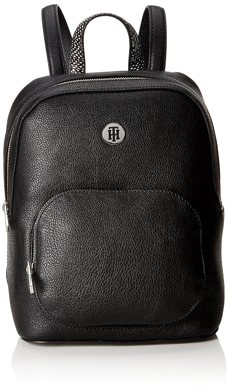 Tommy Hilfiger Th Core Backpack, Sacs à dos femme, (Black), 12.5x28x23 cm (B x H T)