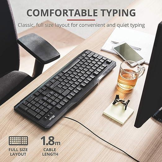 La Confianza Classicline conexión de Cable del Teclado USB ...