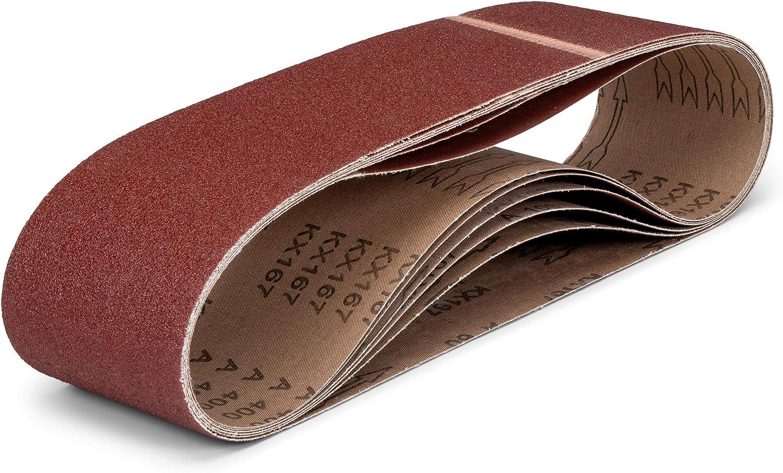 6x Bandschleifer Schleifbänder Schleifband Schleifpapier 100x915mm Körnung 400