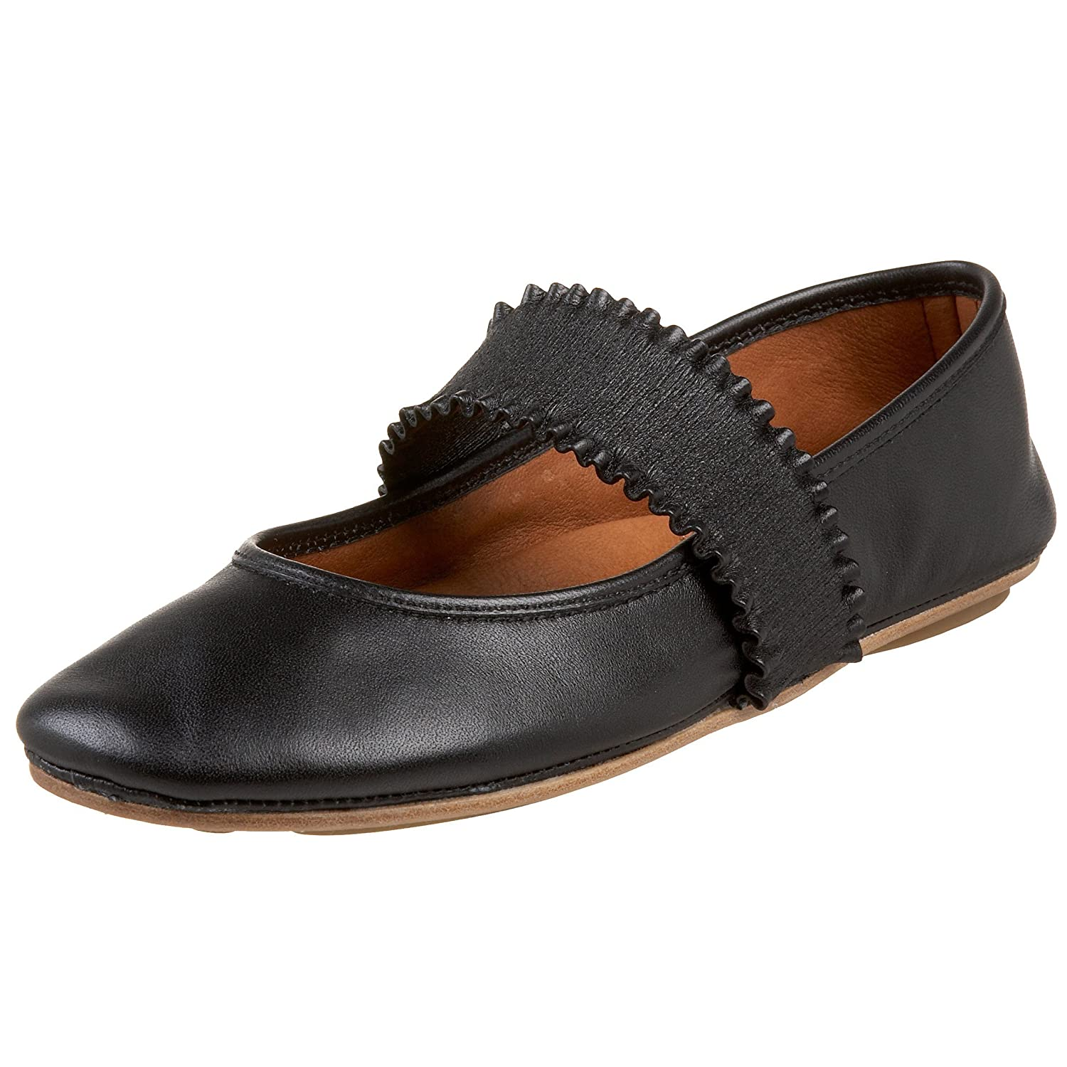 Gentle Souls by Kenneth Cole Women's Gabby Mary Jane Flat B00133GUR0 6 B(M) US|Black Leather