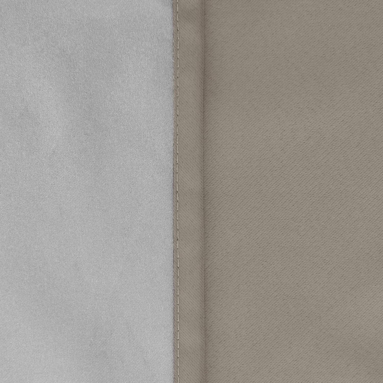 Deconovo Blickdicht Gardinen mit /Ösen f/ür Schlafzimmer Uni Thermogardinen /Ösenschal 138x117 cm Dunkelgrau 2er Set