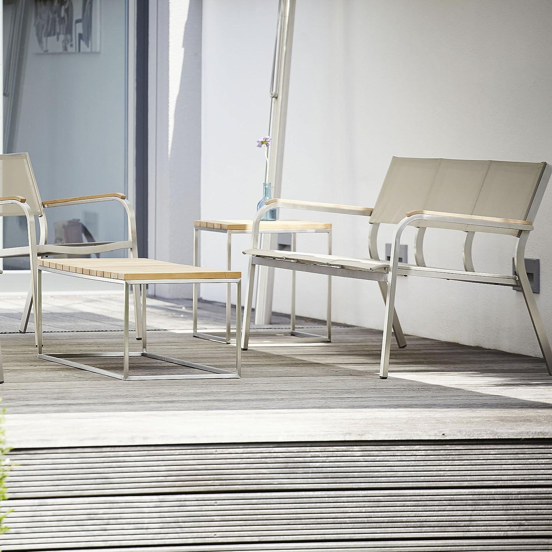 Lux XL Lounge Bank 3-Sitzer taupe / 156 x 70 cm