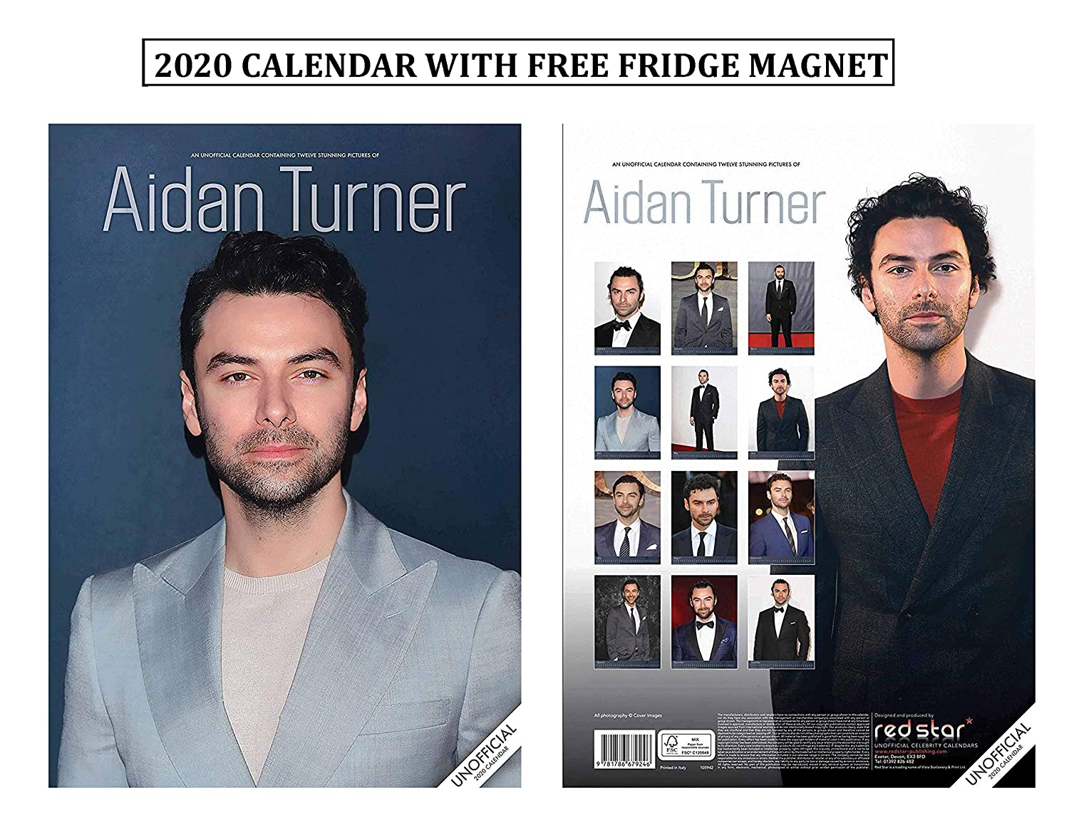 Aidan Turner Calendario 2020 With Aidan Turner Imán para Nevera ...