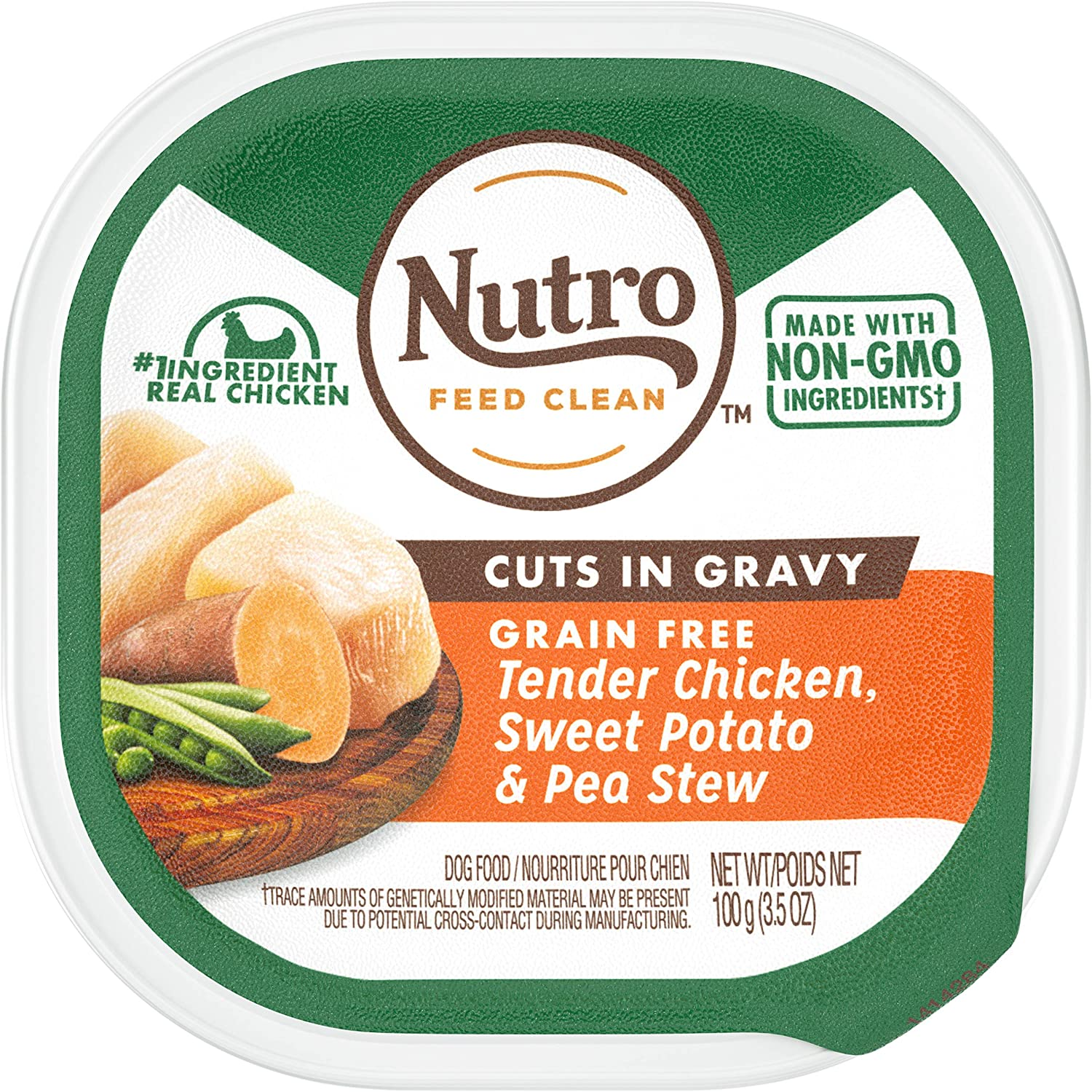 Nutro Cuts in Gravy Grain Free Wet Dog Food Adult & Puppy, 3.5 oz Trays, pack of 24