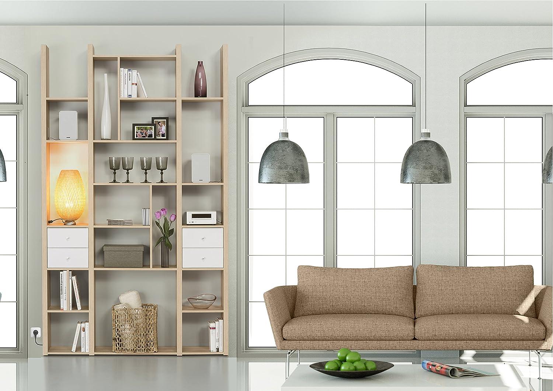 MAJA Raumteiler Wandregal Cableboard 6030 in Edelbuche 134x226x30cm Bücherregal Wohnwand