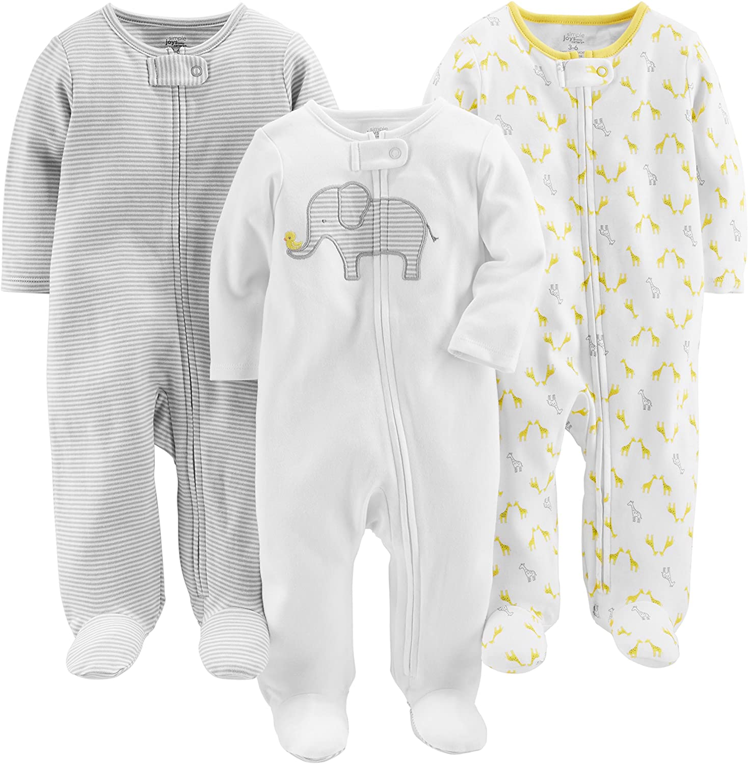 Simple Joys by Carter's Baby 3-Pack Cotton Footed Sleep and Play