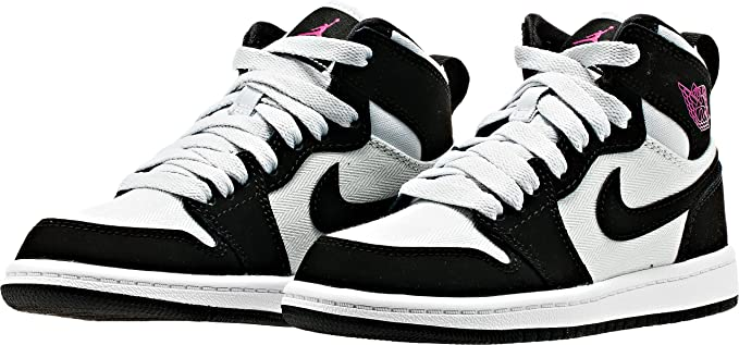Nike Jordan Kids Air Jordan 1 Retro High,PR PLATINUMVVD PNK-BLK