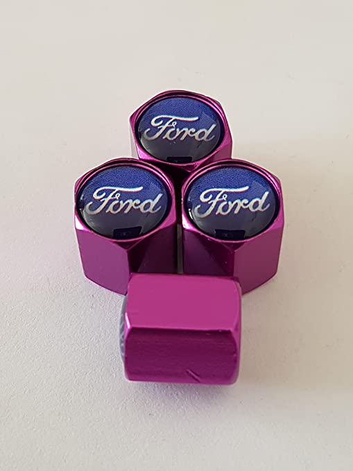 Válvula de Luxe Morado Aleación Ford gorras ces tapones antipolvo se adaptent sobre