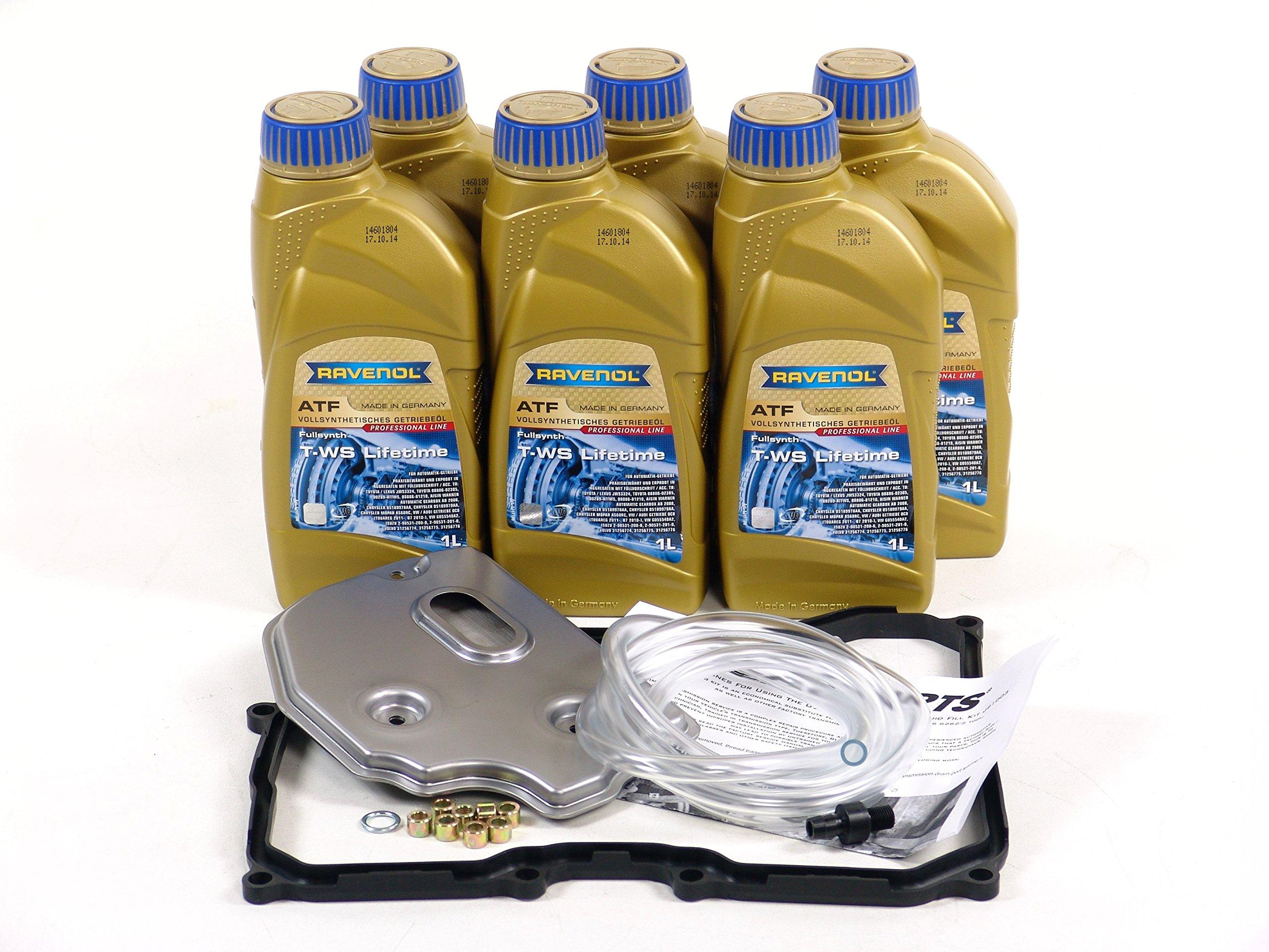 BLAU F2A1017-D VW Passat ATF Automatic Transmission Fluid Filter Kit - 2012-14 w/ 6 Speed Tiptronic (2.5L Engine) by Blau