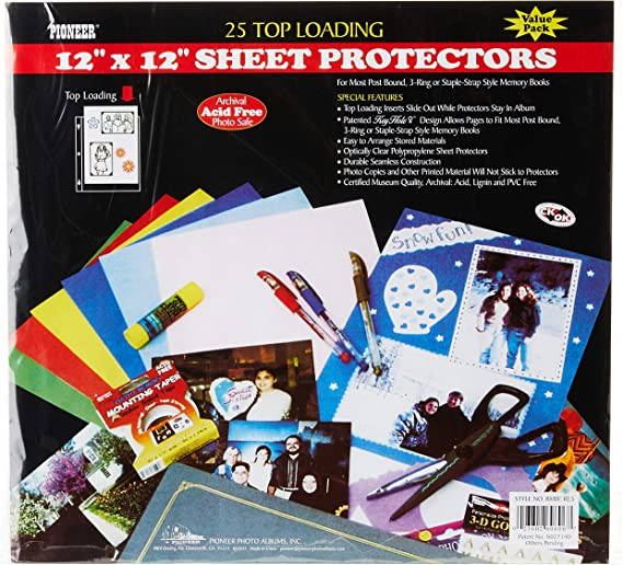 Papermania 12 x 12-inch Page Protectors Pack of 25
