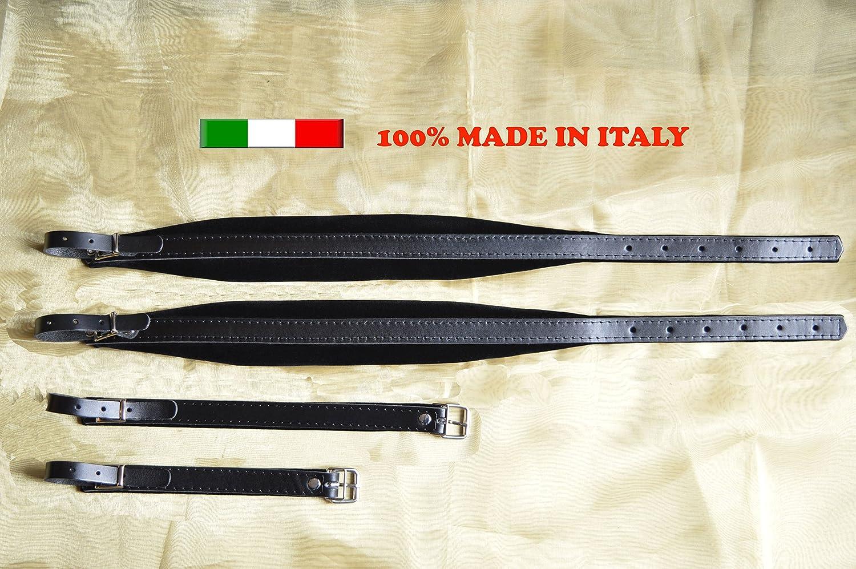 Paire de bretelles courroies sangles d'accordéon 6 CM 100% Fabriquées en Italie