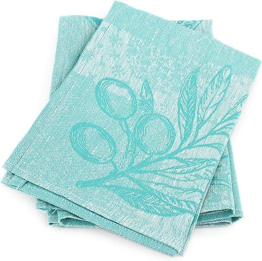 Lote de 2 paños de cocina de tela de 50 x 70 cm, color verde y ...