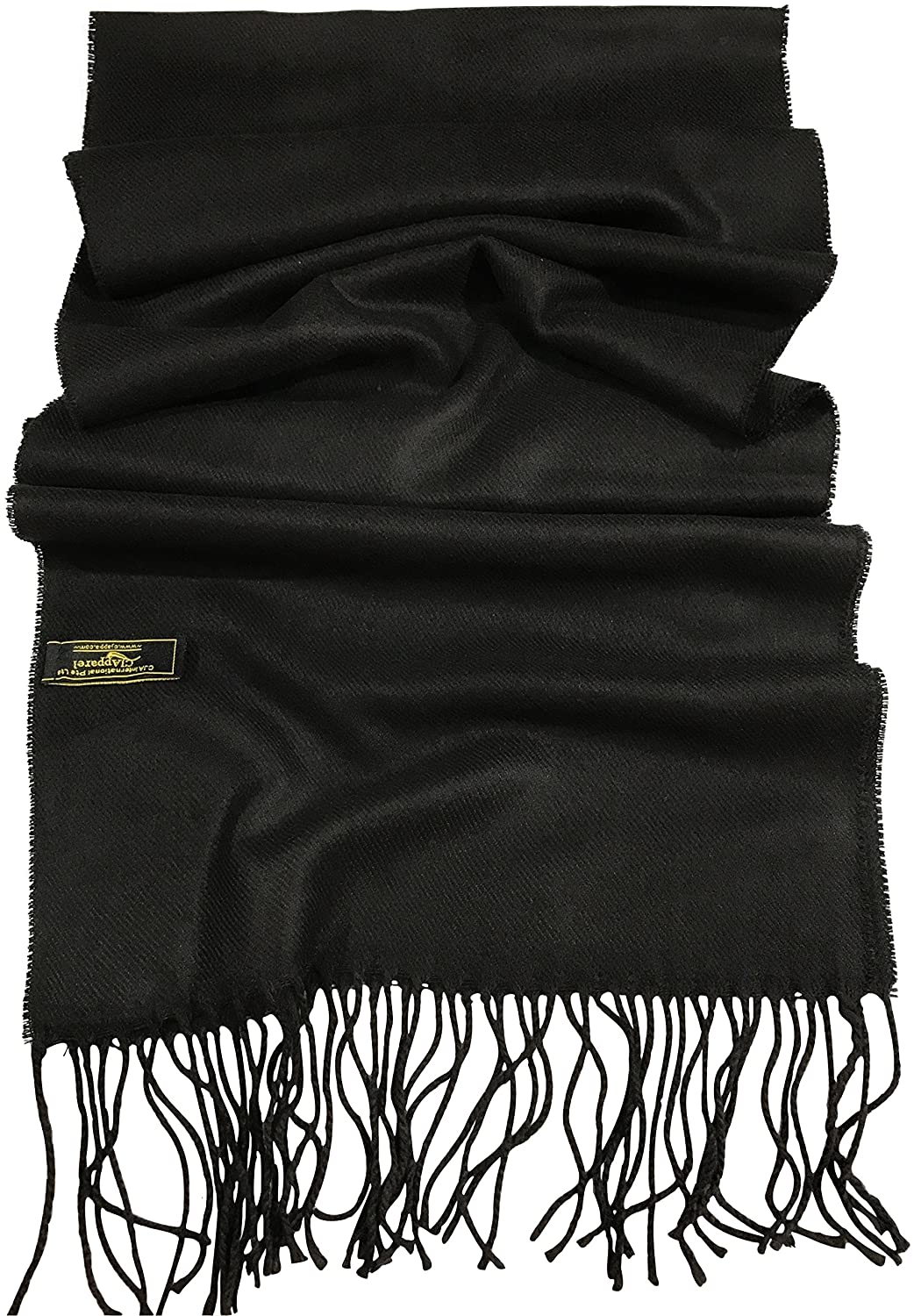 Black Mens Solid Colour Design Fashion Knitted Scarf Fall//Winter CJ Apparel NEW