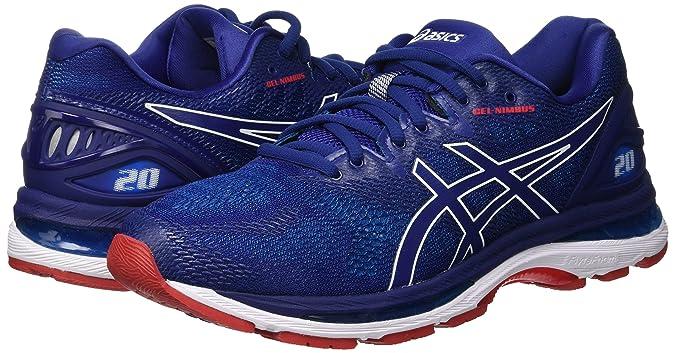 Buy ASICS Men's Gel Nimbus 20 PrintRace Blue Running Shoes