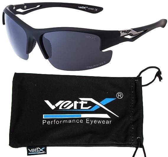 f89ceba563a1 VertX Men s Polarized Sunglasses Sport Wrap Around Cycling Running Outdoor  – Matte Black Frame - Smoke