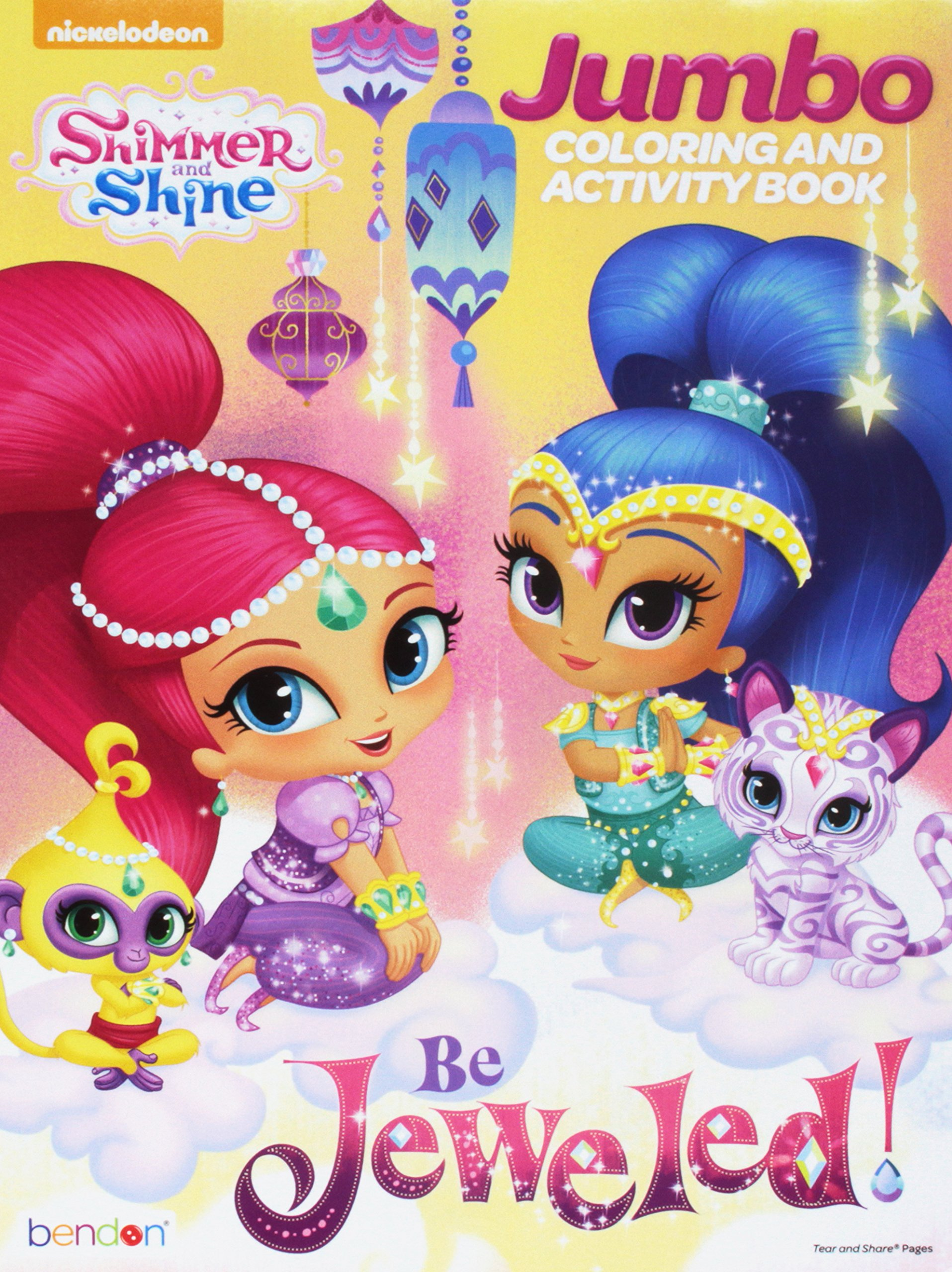 Shimmer And Shine Coloring Book Bendon 9781505049558 Amazon Books