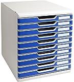 Exacompta - Mueble archivador con 10 cajones, color gris