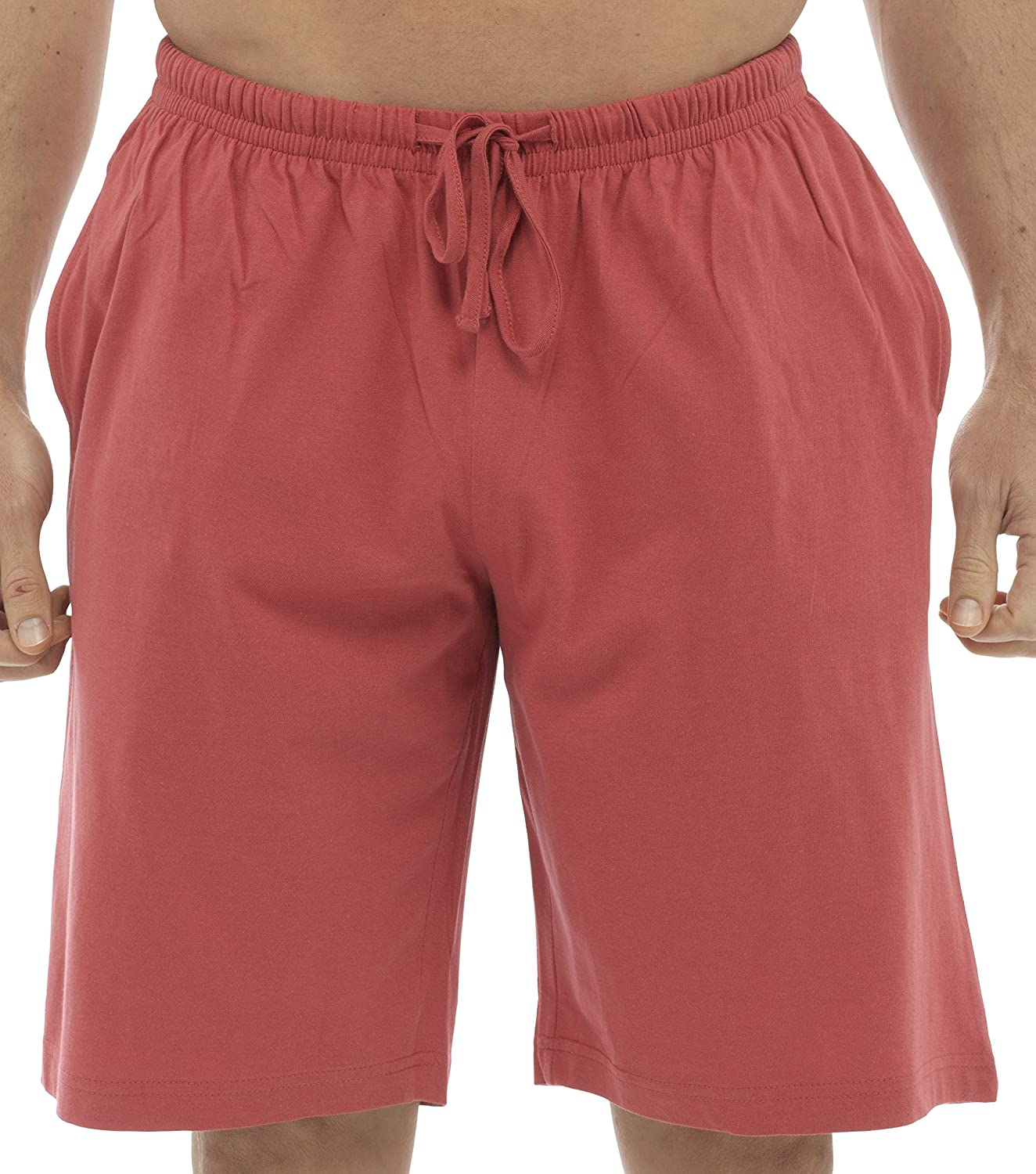 Tom Franks Twin Pack Cotton Jersey Lounge Shorts Red Blue Large