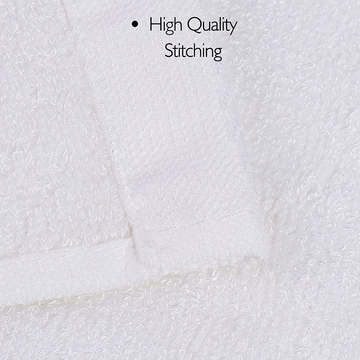 Jml Bamboo Bath Towels - Soft, Absorbent, Antibacterial and Hypoallergenic White