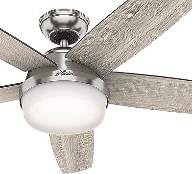 Hunter Fan 137,16 cm Ventilador de techo de níquel cepillado para ...