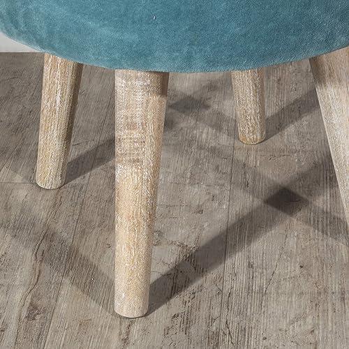 Hillsdale Furniture Vanity Stool, Teal