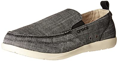 crocs Mens Walu Chambray M SlipOn Loafer CharcoalStucco