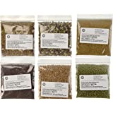 The Sprout House Amazon Six - Assorted Organic Sprouting Seeds and Seeds Mixes Sample, Pack of 6