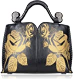 Pijushi Designer Floral Handbag Women's Genuine Leather Tote Flower Purses 6028