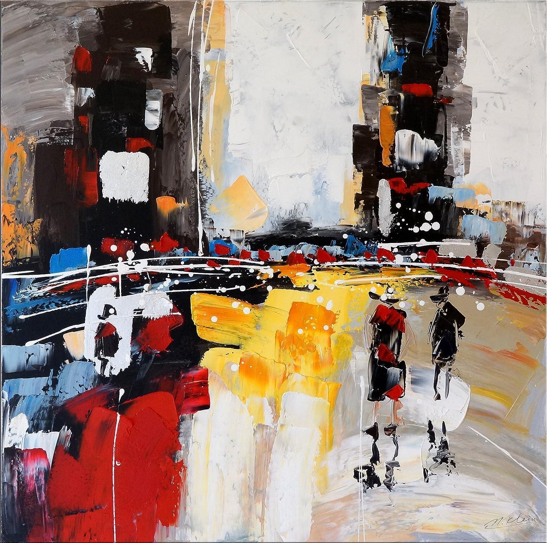 Abstracto imagen–Moderno Acrílico Gemälde–Gemälde–unsleep City–Ciudad Silueta–Martin pequeño–abstracto pintura al óleo comprar