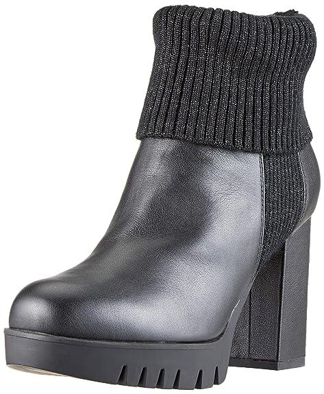 Fornarina Bea3 Sneaker a Collo Alto Donna, Nero (Black) 37