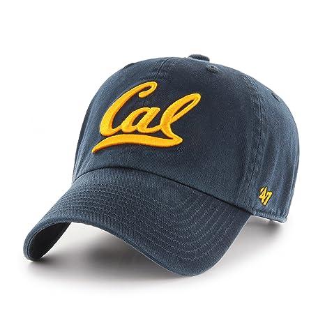 28385b2f1e3 Shop College Wear UC Berkeley Golden Bears Cal Adjustable Hat by 47 Brand  -Navy