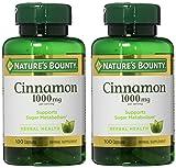 Nature's Bounty Cinnamon 1000 mg Capsules 100 ea