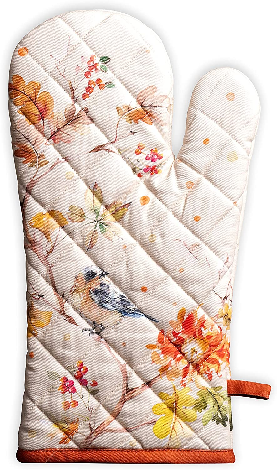 Maison d' Hermine Kelim 100% Cotton Prairie Oven Mitt 7.5 Inch by 13 Inch. Perfect for Thanksgiving and Christmas