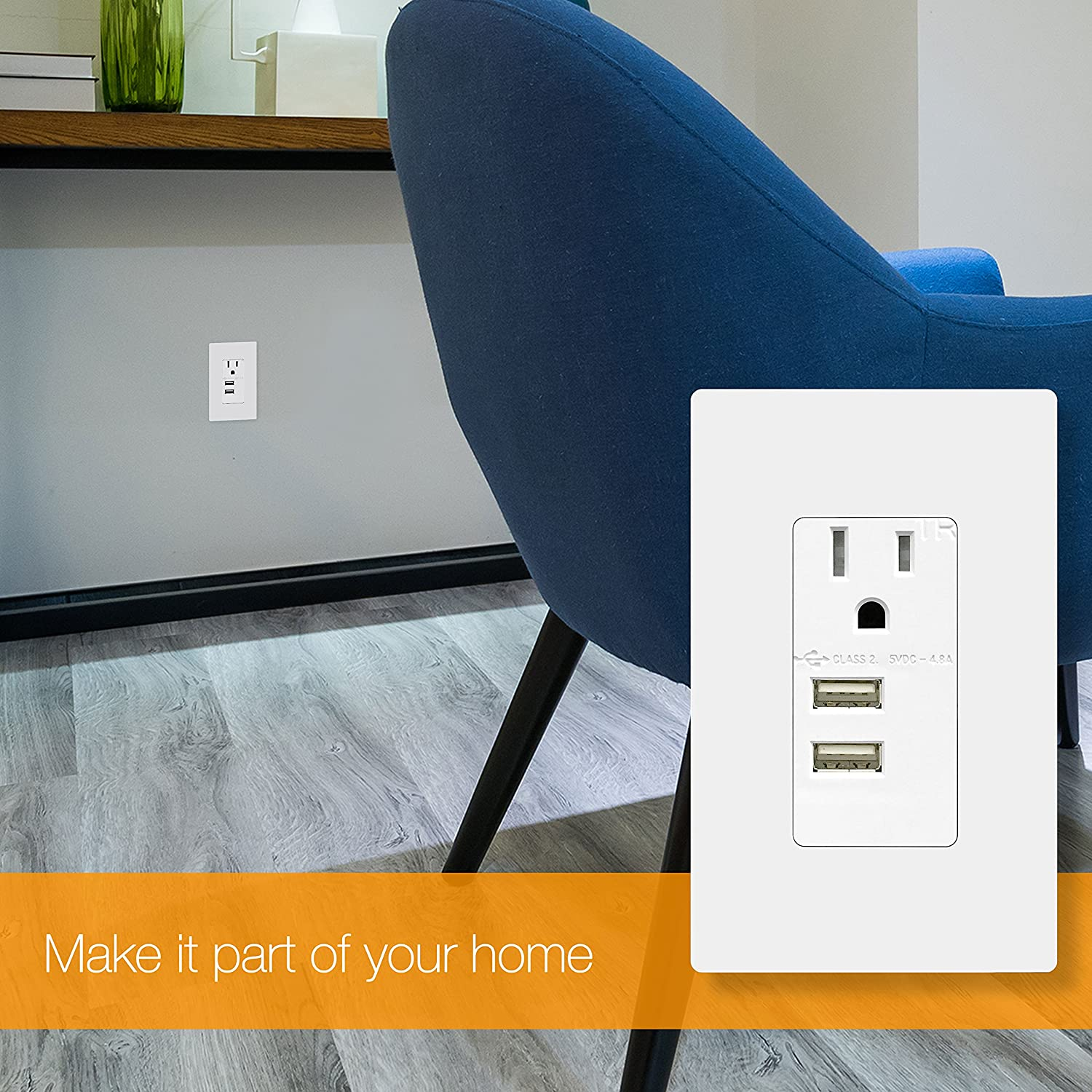Topgreener Interchangeable Usb Outlet Module For Tu11548a Black Charging Electrical Whitetr7740wk The Home Depot