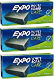 Expo Block Eraser 81505 Dry Erase Whiteboard Board Eraser, Soft Pile, 5 1/8 W x 1 1/4 H-Pack of 3