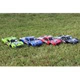 SummitLink 4pcs 4 Color Combo Set of Traxxas Truck Body for 1/10 Slash 4x4 VXL 2WD Slayer Shell Cover Baja 6811 Green,Blue,Red,Black (Truck not included)