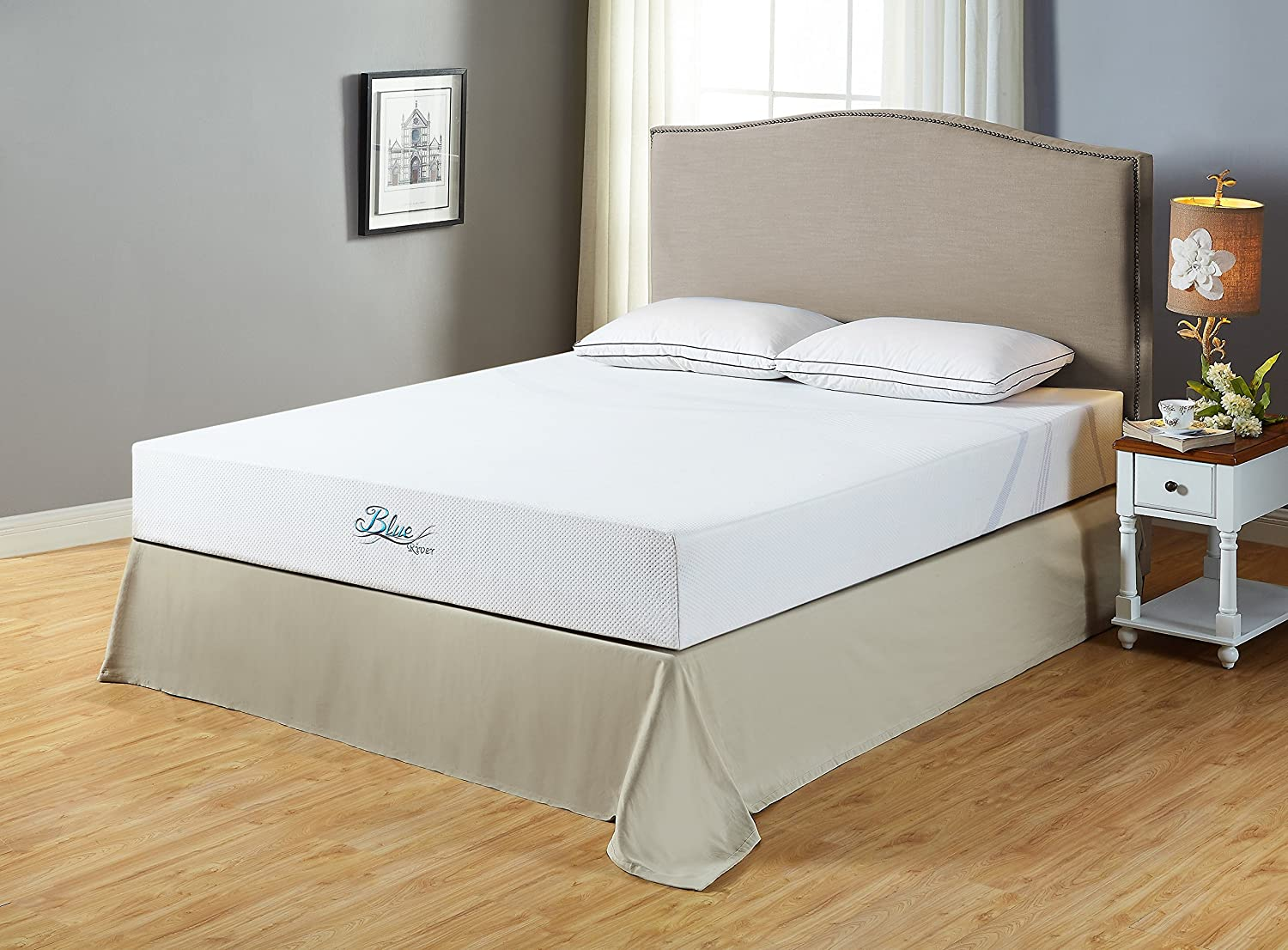 Roundhill Furniture Blue River Gel-Infused Green Tea Mattress, King